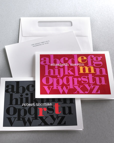"20 ""Alphabet"" Notes & Envelopes"