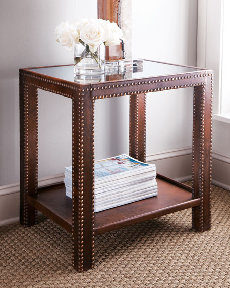 """Nailhead"" Side Table"
