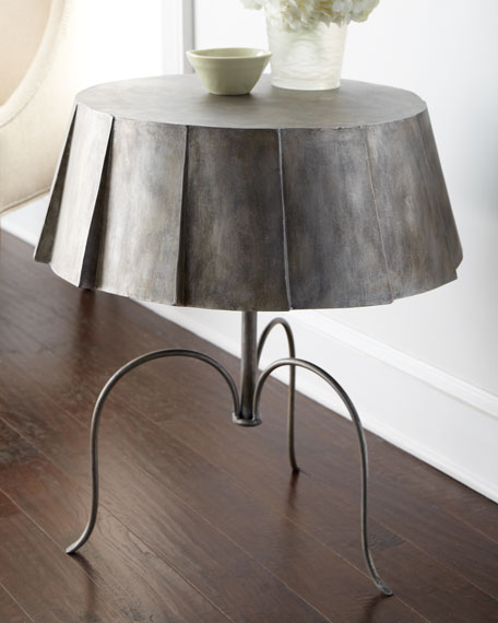 Metal Skirt Side Table