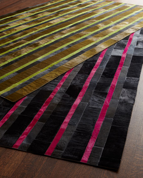 Patchwork Hairhide Rug, 6' x 9'