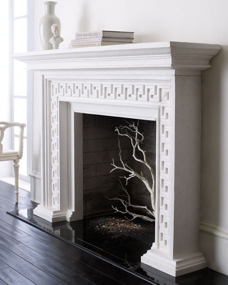 Greek Key Mantel