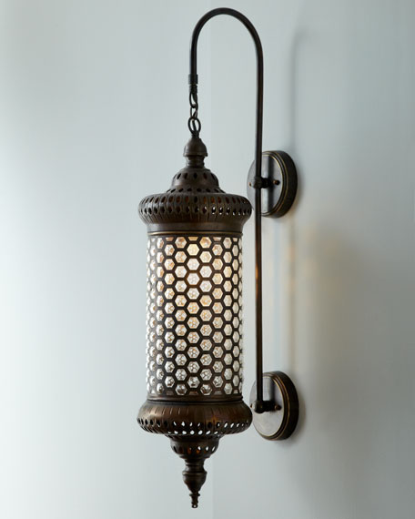 Moroccan metal sconce for Decoration quadrilobe
