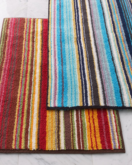 """Jazel"" Striped Bath Mat"
