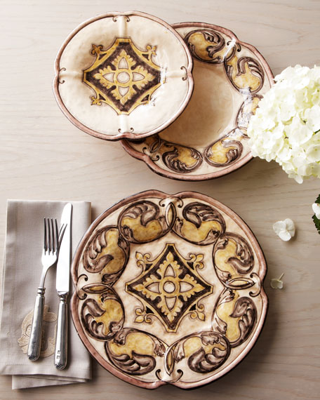 "12-Piece ""Elegant Scroll"" Dinnerware Service"