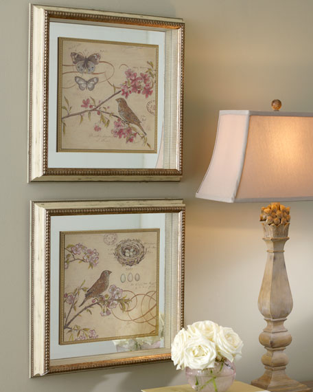 "Two ""Nature Sketches"" Wall Decor"