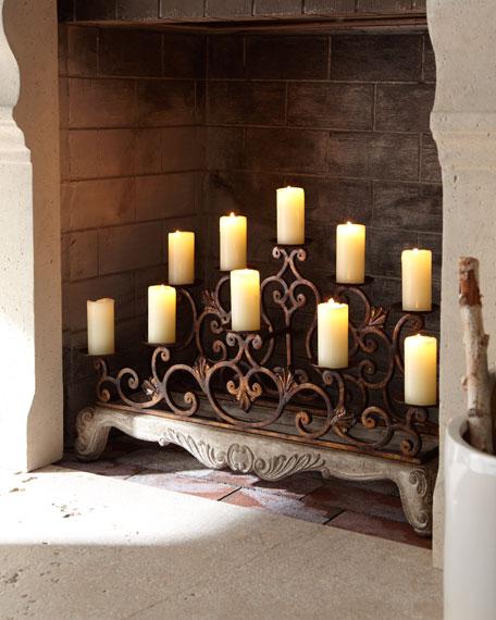 Orante Fireplace Candelabra