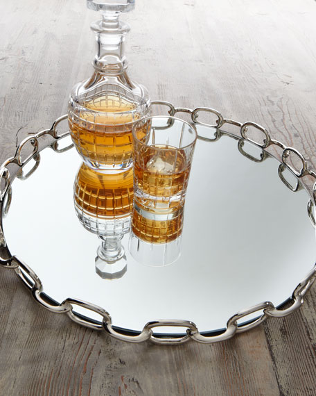 """""""Chain Link"""" Mirrored Tray"""