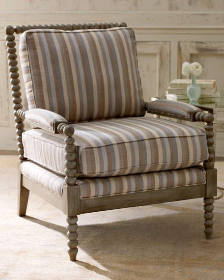 """Dorian Stripe"" Bobbin Chair"
