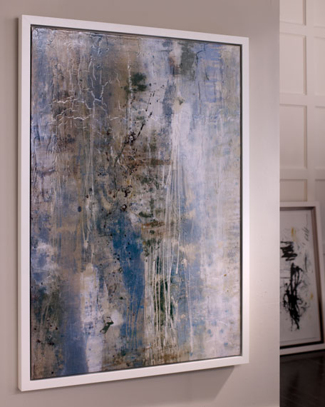"""Dusted Blue"" Abstract Giclee"