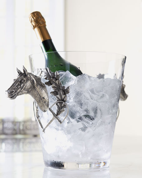 Ice Bucket with Horse Handles