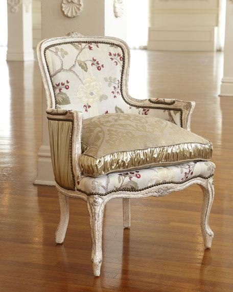 """""""Darra"""" Golden Floral Chair"""