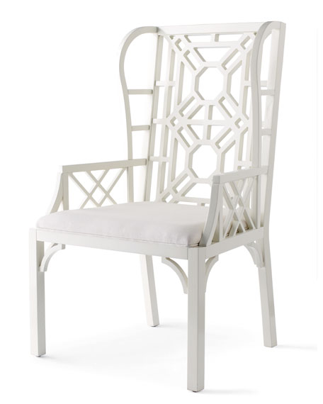 """Lilly Pulitzer Home """"Boulevard"""" Wing Chair"""