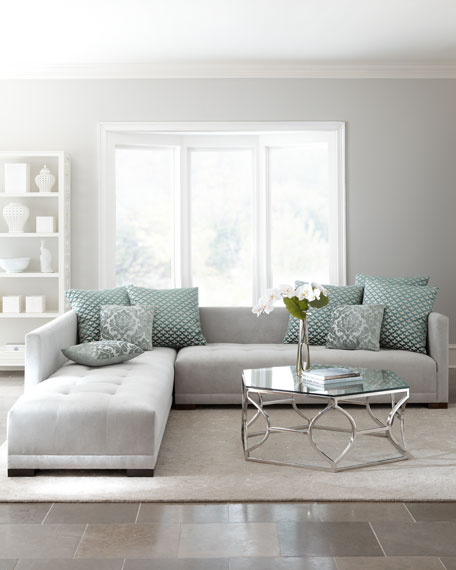"""Sevina"" Tufted Sectional Sofa"