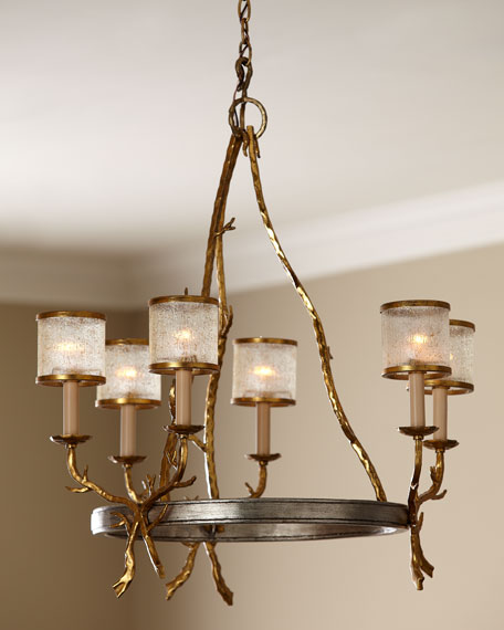 "Six-Light ""Parc Royale"" Chandelier"