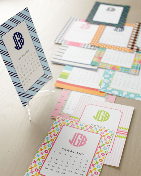 Preppy Calendar with Stand