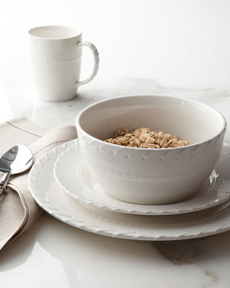 "Four-Piece ""Whipstitch"" Dinnerware Place Setting"