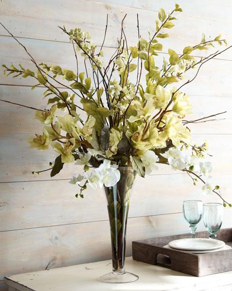 Lush Greenery Faux Floral Arrangement