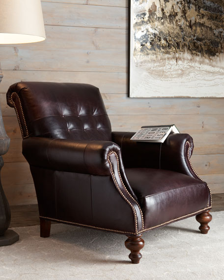 """""""Mulberry"""" Leather Chair"""