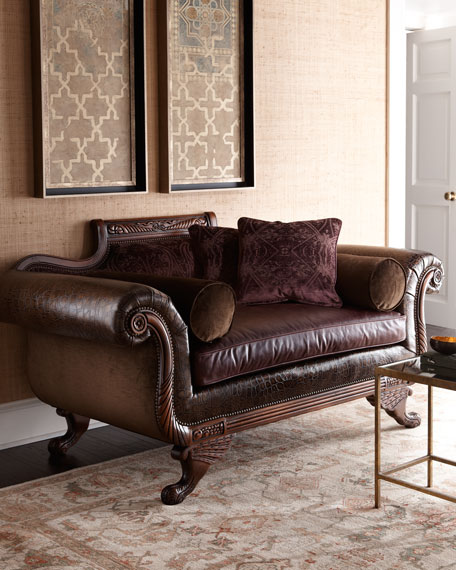 """Imperial"" Leather Settee"