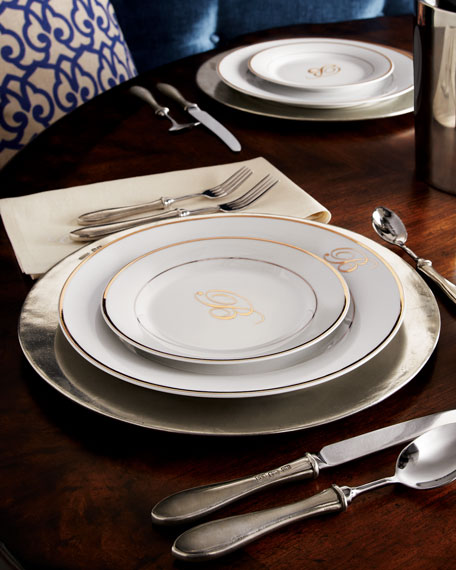 """Filet"" Pewter Charger Plate"