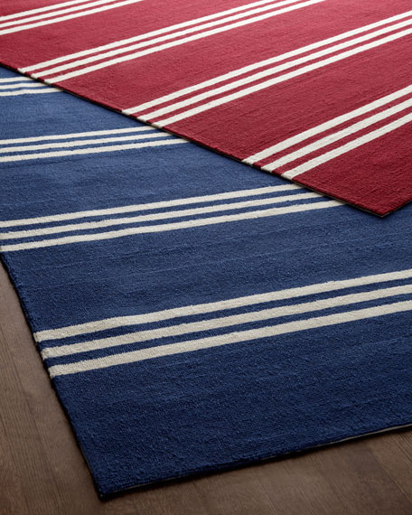 """Chester Stripes"" Rug, 5' x 8'"