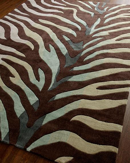 """Congo Zebra"" Rug, 5' x 8'"