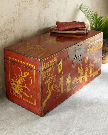 Vintage Wooden Trunk