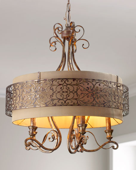 Etched Gold Chandelier