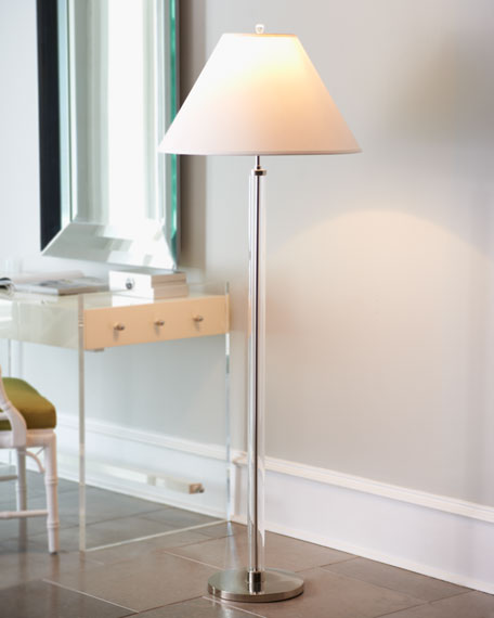 Clear Lucite Floor Lamp