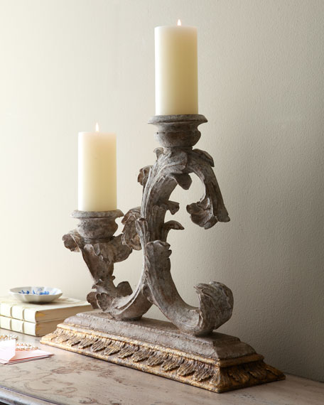 Weathered Candleholder