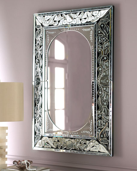 Etched Venetian-Style Mirror