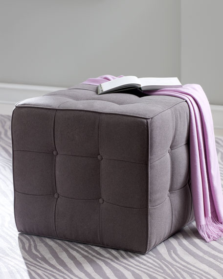 """Beverly"" Tufted Cube Ottoman"