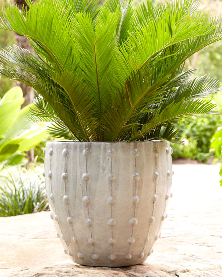 Gray Studded Planter
