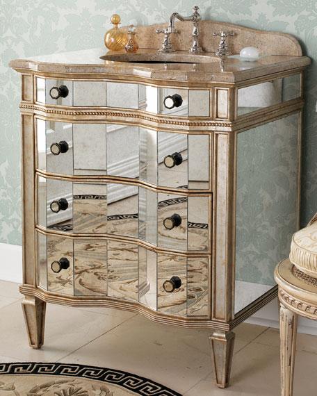 Hooker Furniture Mirrored Vanity With Sink