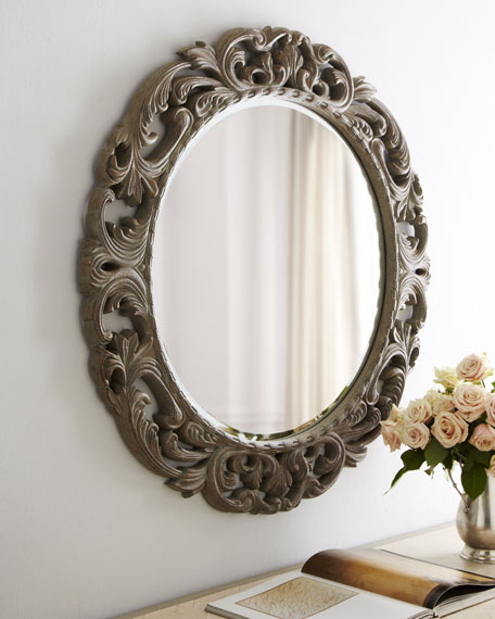 Circular Scrollwork Mirror