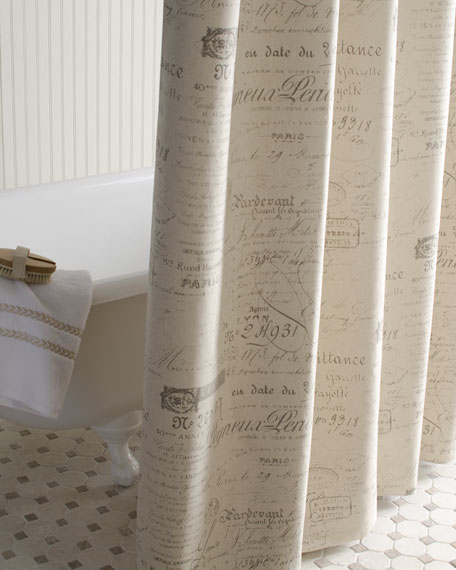 French Laundry Home Script Shower Curtain