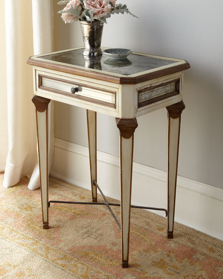 """Louis XVI"" Mirrored Side Table"