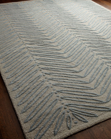 """Chevron Leaf"" Rug, 5' x 8'"