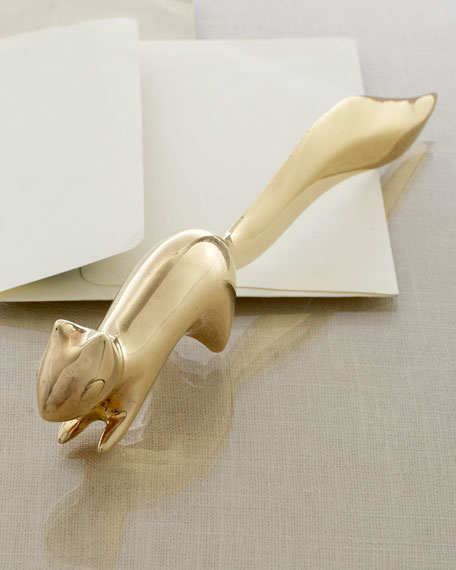 Brass Squirrel Letter Opener