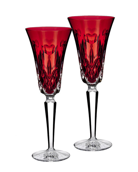 "Two ""I Love Lismore"" Red Flutes"