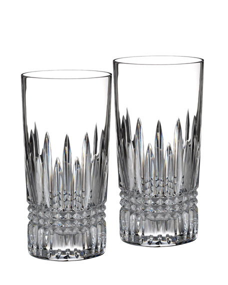 "Two ""Lismore Diamond"" Highballs"