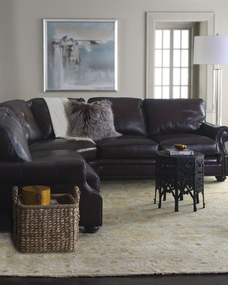 """Conrad"" Two-Piece Leather Sectional"