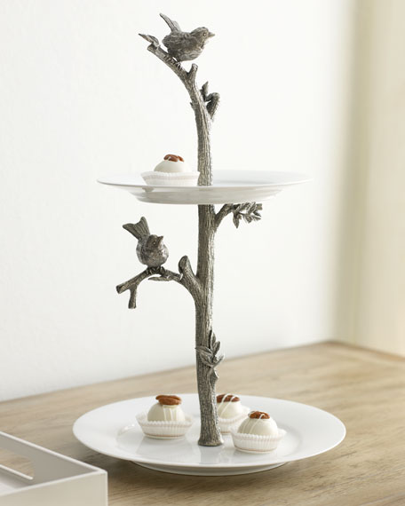 """Bird"" Two-Tier Dessert Stand"