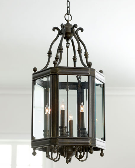 Glass Paneled Lantern