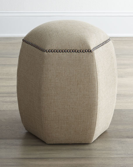 """Lexie"" Hexagon Ottoman"