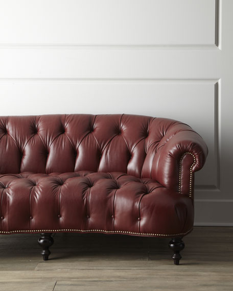 "Leather ""Pressley"" Sofa"
