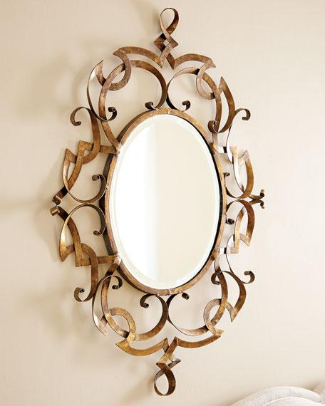 Golden Scroll Mirror