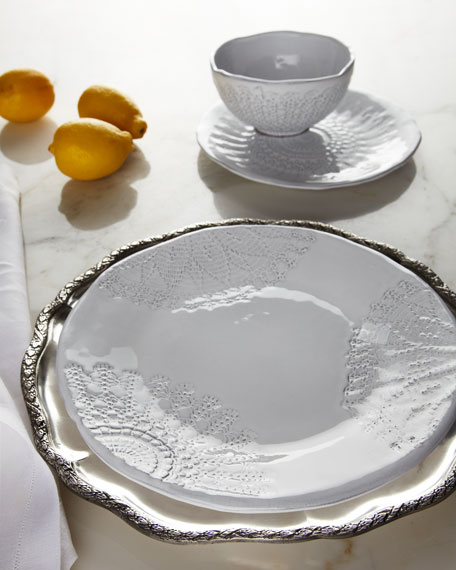 "12-Piece ""White Lace"" Dinnerware Service"