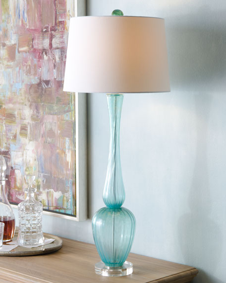 Turquoise Buffet Lamp