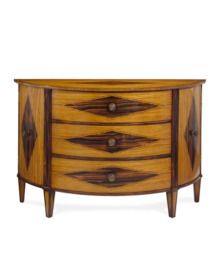 Satinwood Demilune Chest